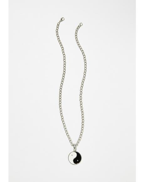 Good Riddance Yin Yang Necklace