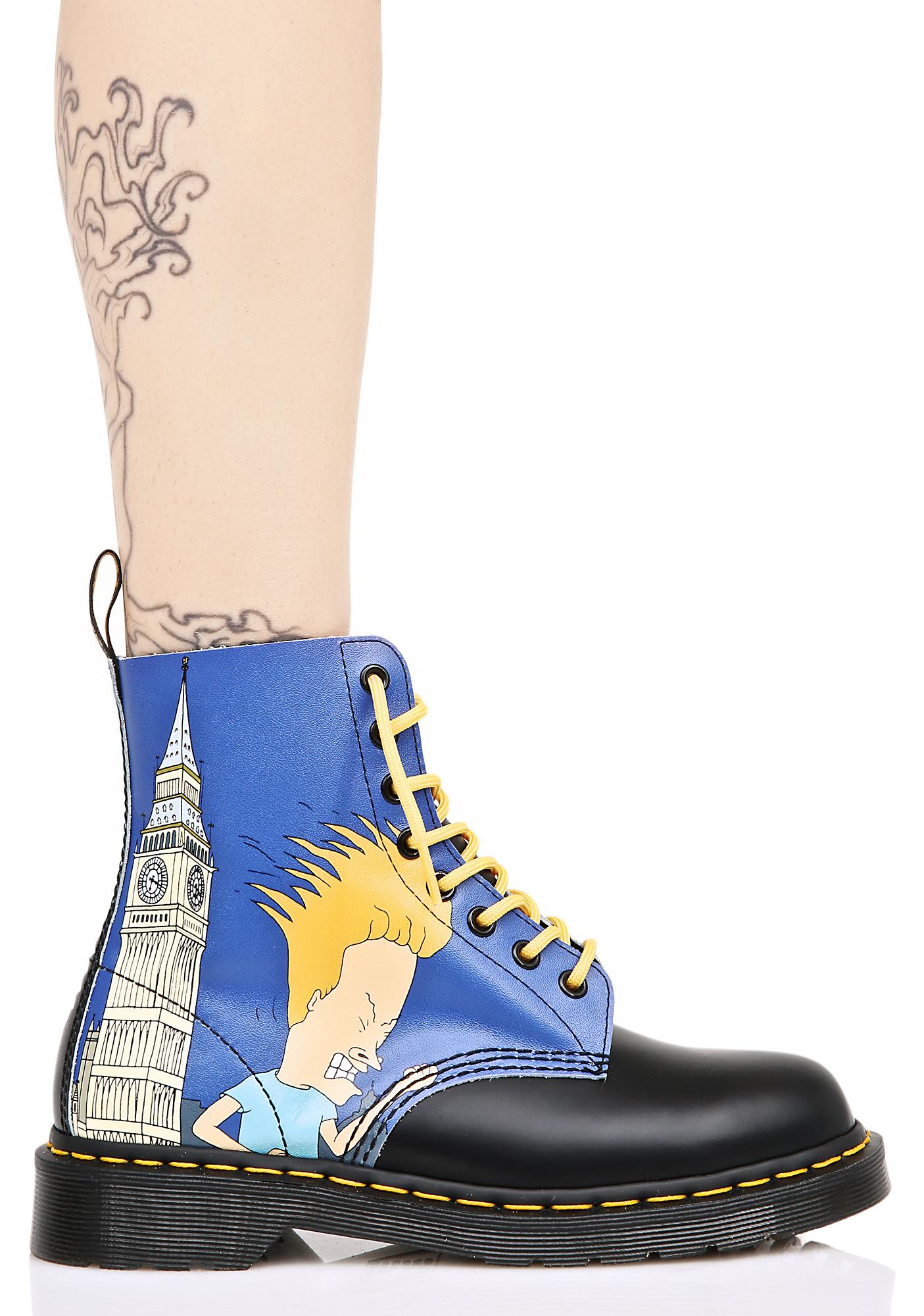 Dr. Martens Big Ben Beavis & Butthead 8 Eye Boots