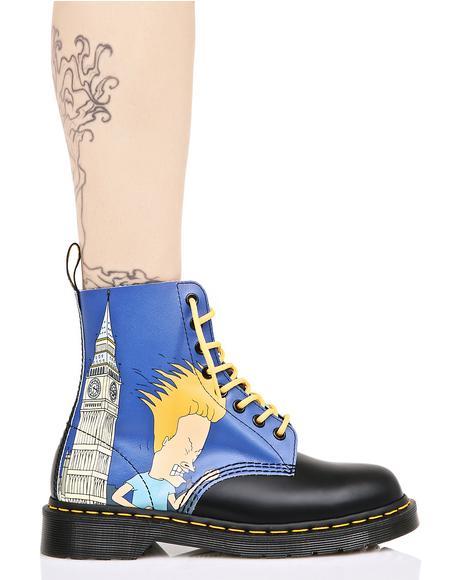 Big Ben Beavis & Butthead 8 Eye Boots
