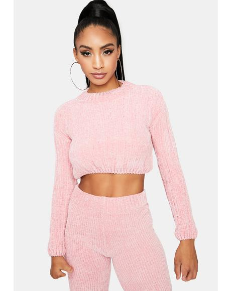 Blossom in Love Cropped Sweater