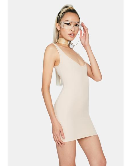 Tan Boss Up Mini Dress