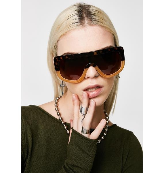 Blockin' You Out Shield Sunglasses