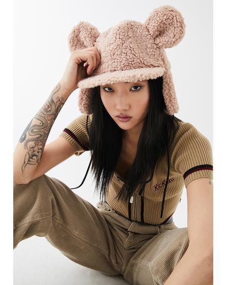 Mocha Beary Special Sherpa Hat