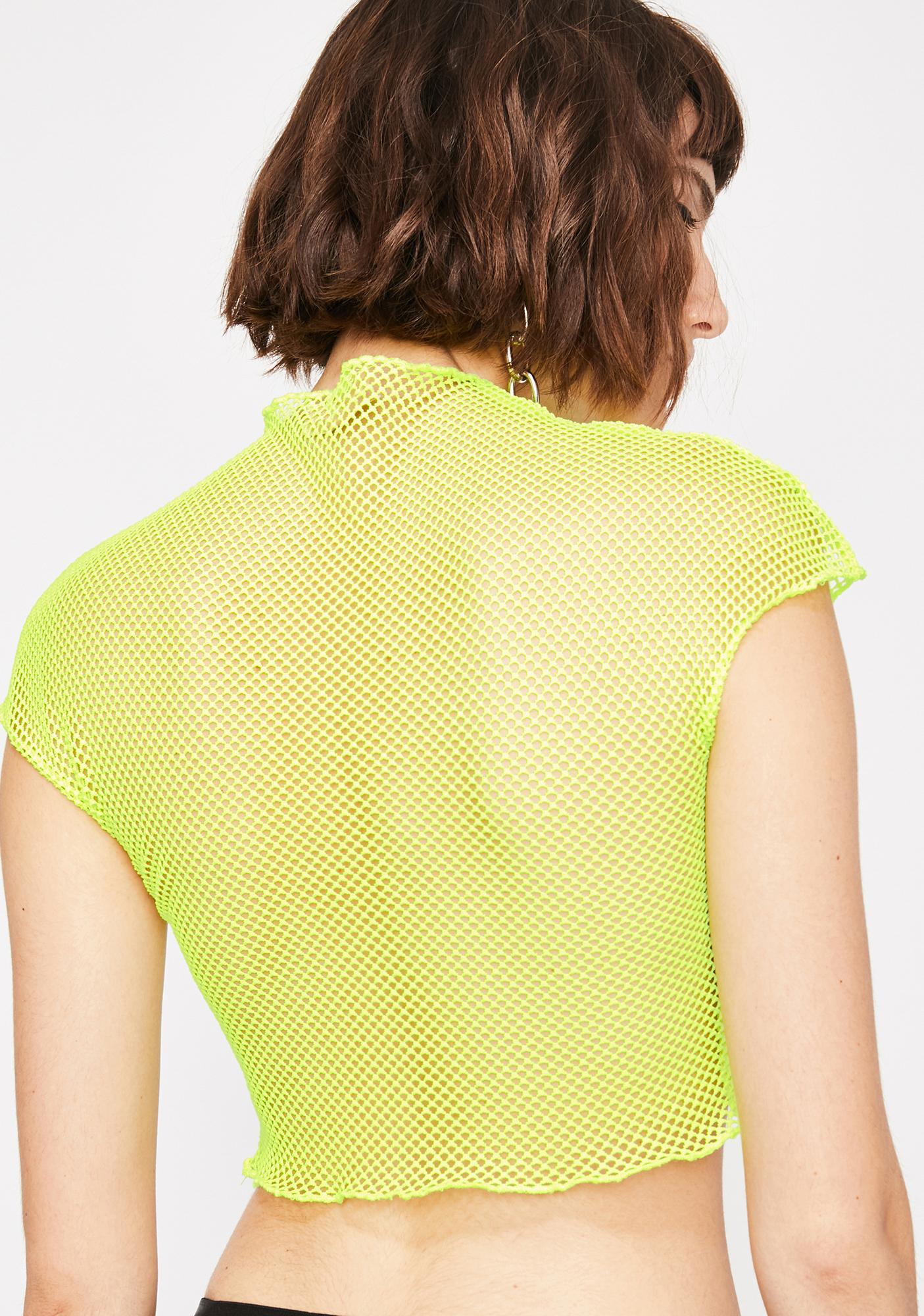 Slime Bad Romance Fishnet Crop Top