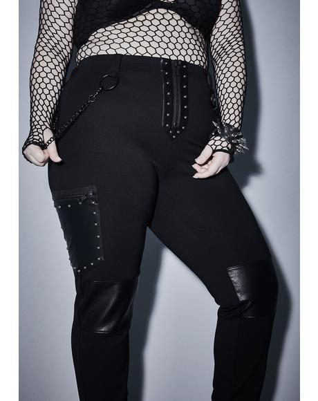 Her Devious Desire Studded Leggings