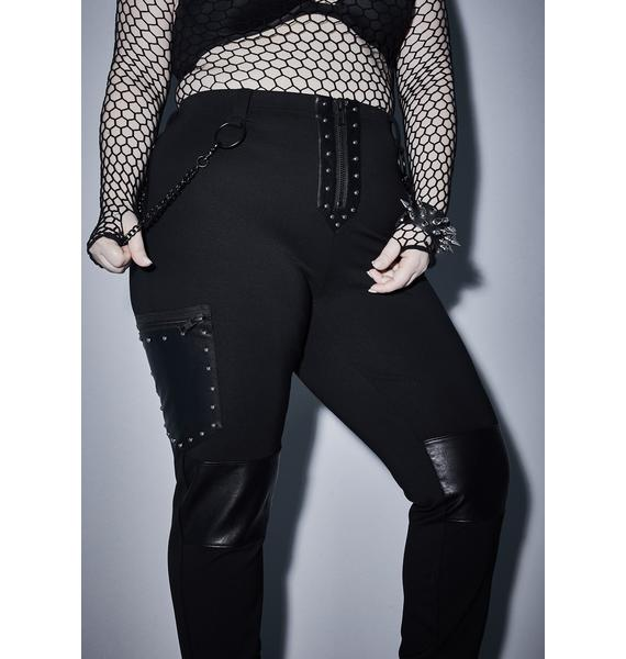 Widow Her Devious Desire Studded Leggings