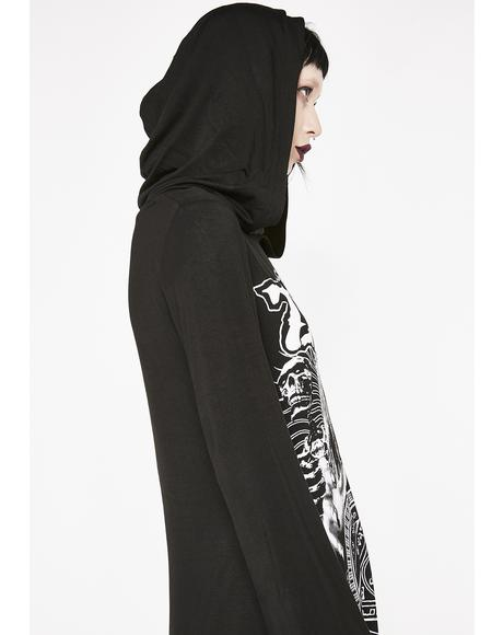 Phantom Stranger Hooded Dress