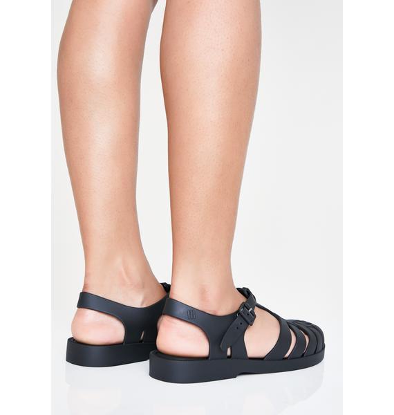 Melissa Dark Possession Jelly Sandals