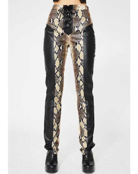 Penelope Snakeskin Pants
