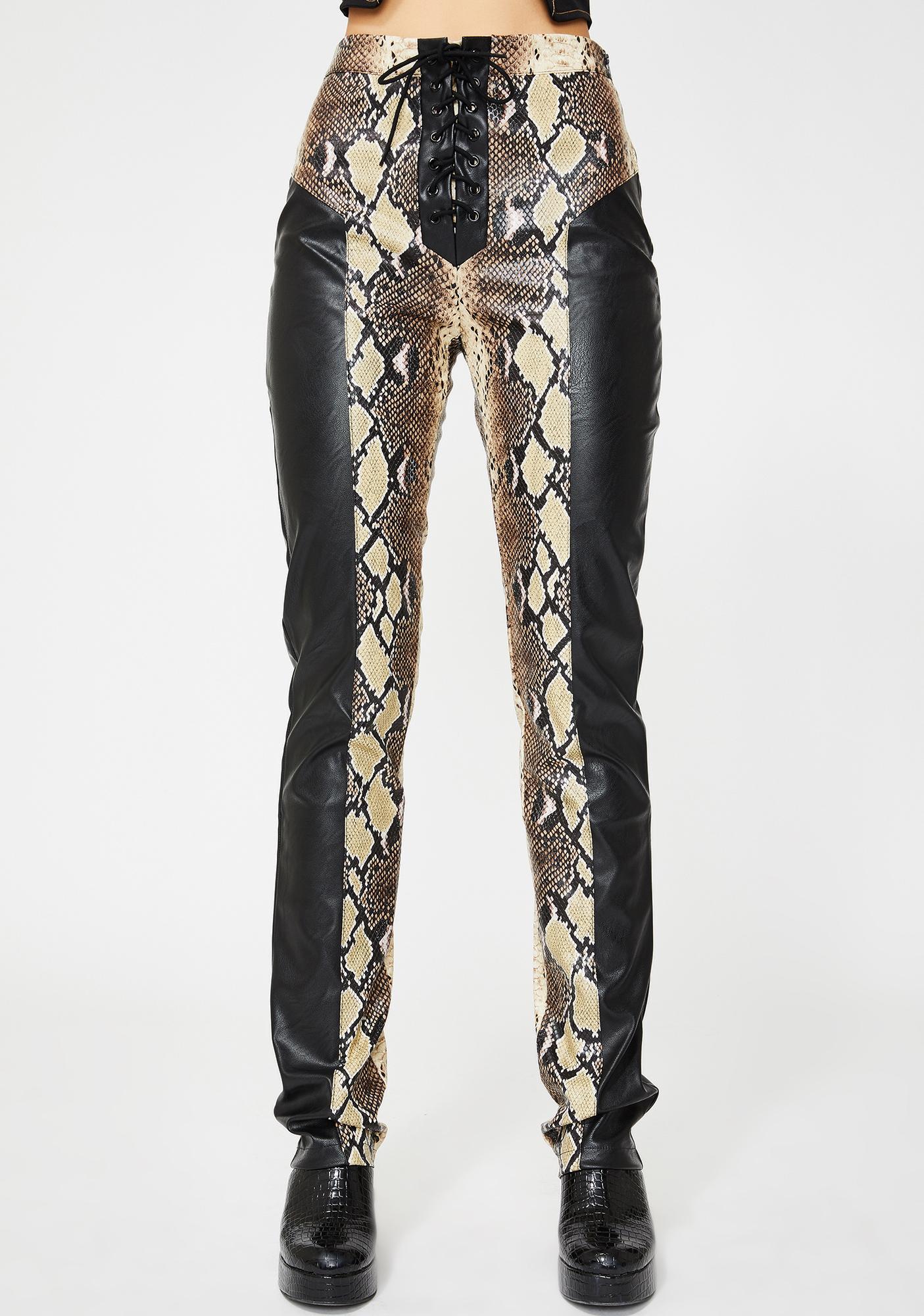 I AM GIA Penelope Snakeskin Pants