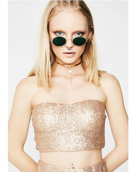 Wild Nights Sequin Crop Top