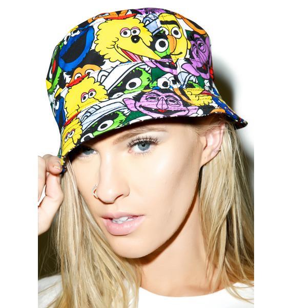 Mishka Sesame Heads Reversible Bucket Hat