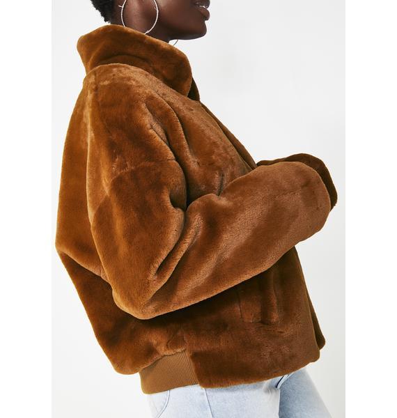 Big Deal Faux Fur Jacket