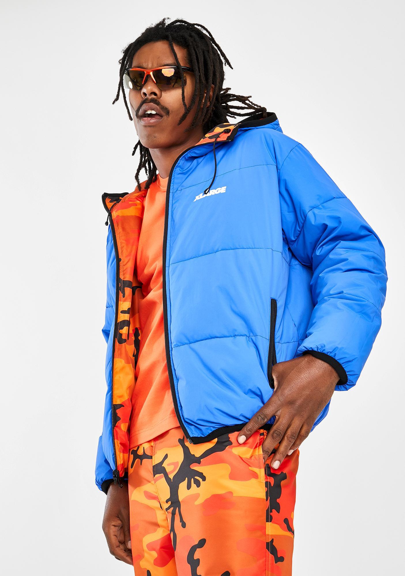 XLARGE Reversible Hooded Camo Jacket