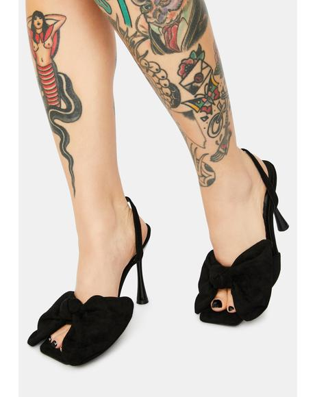 Vamp Went Viral Patent Bow Heels