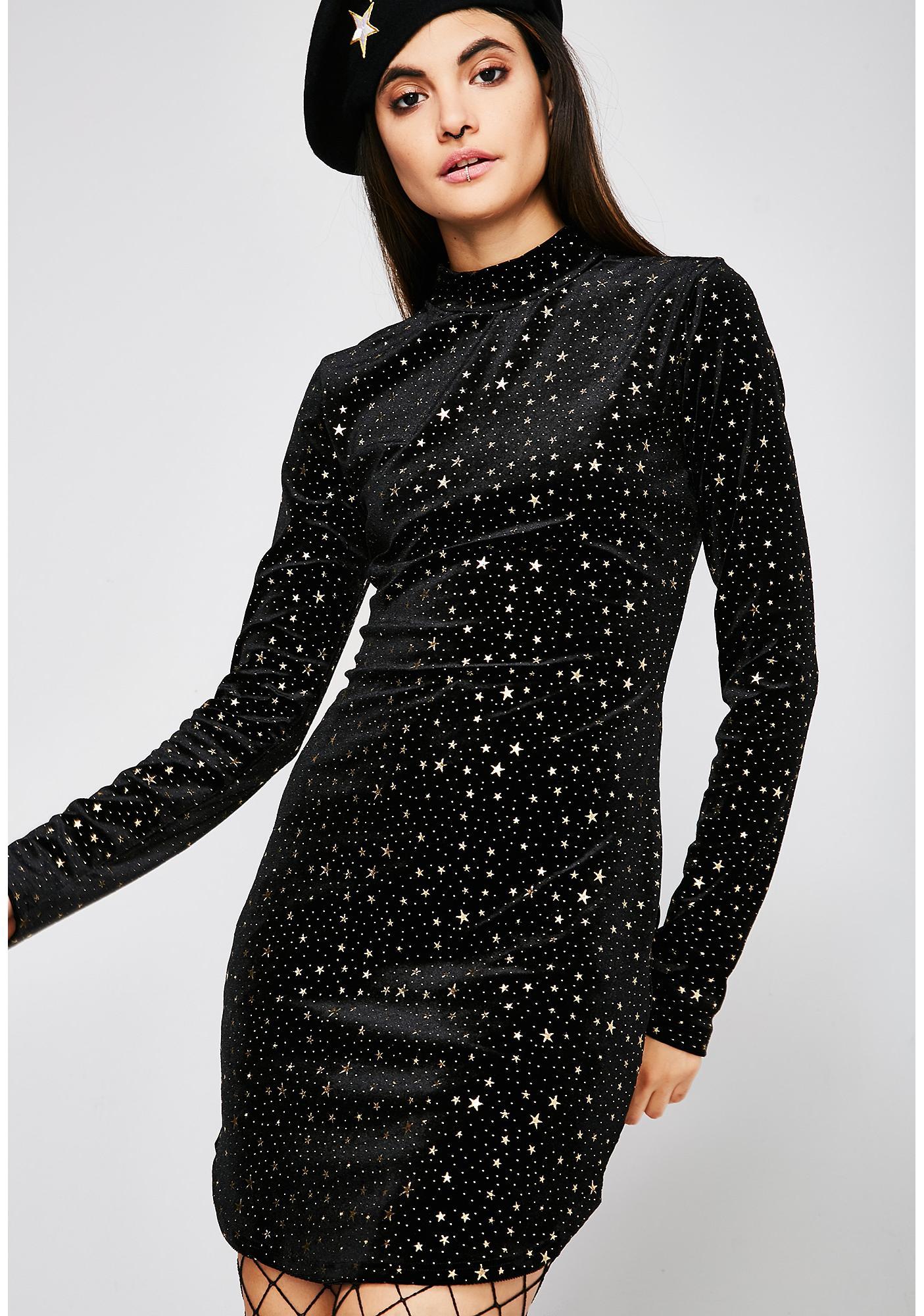 Fallin' Stars Velvet Dress