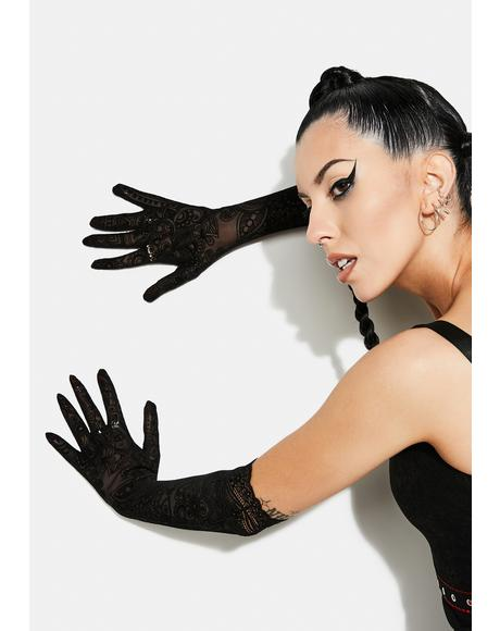 Gothic Daily Lace Gloves