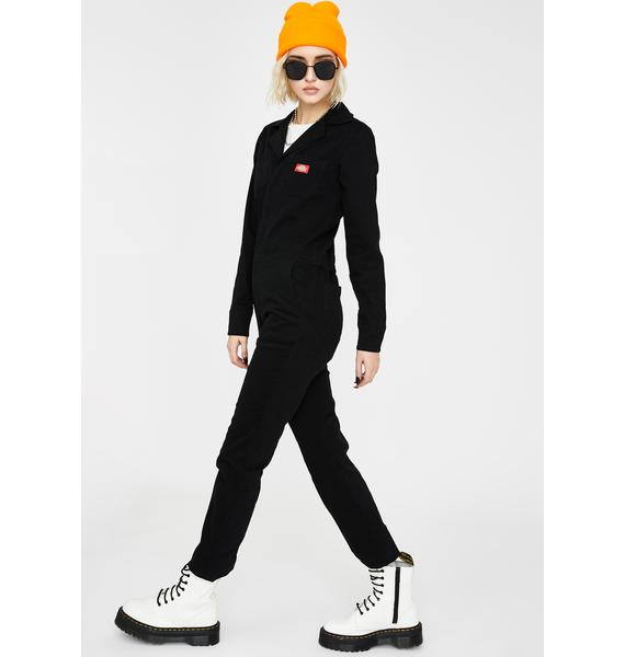 Dickies Girl Brushed Twill Button Front Coveralls