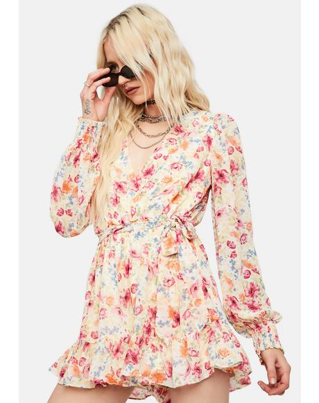 Gold Dust Woman Floral Romper