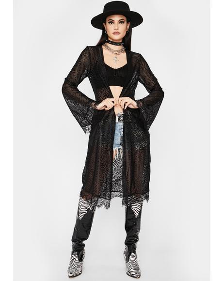 Miss Wild Sheer Kimono
