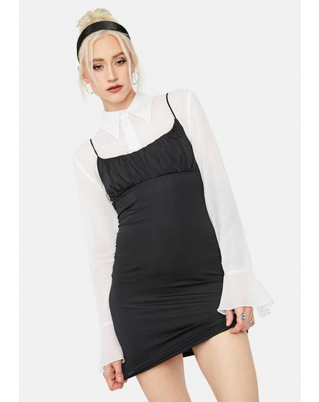Goin' Places Ruched Bodycon Dress