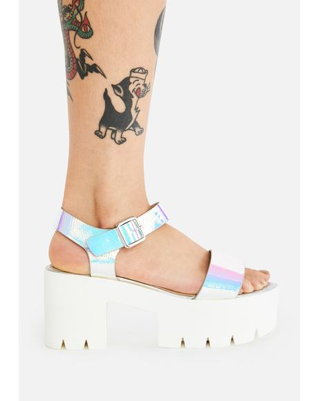 Hologram Gifu Platform Sandals