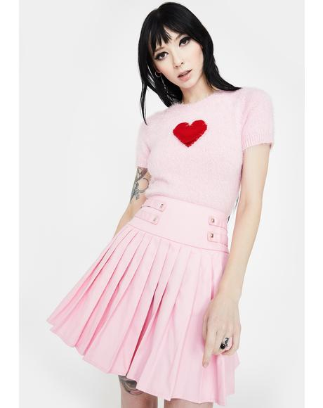 My Sweetheart Pleated Mini Skirt