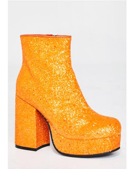 Tangy Keep Ya Sparkle Glitter Boots