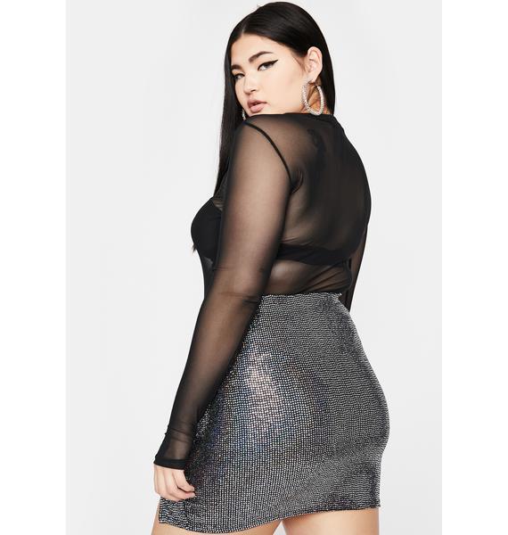 Chrome Servin' Bawdy Sequin Skirt
