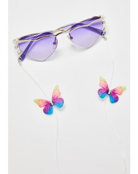 Butterfly Magic Sunglasses Chain