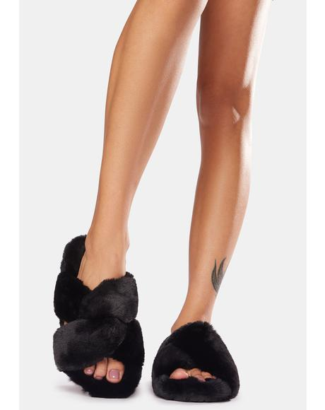 Night Cozy Life Faux Fur Slippers