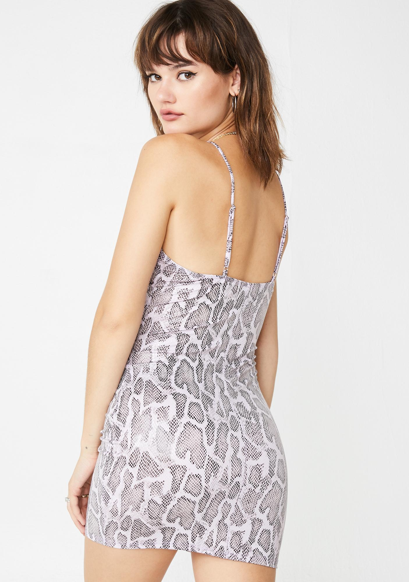Snake Sin Cut Out Bodycon Dress