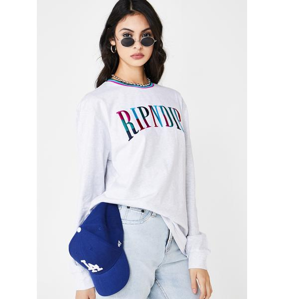 RIPNDIP Color Block Embroidered Sweatshirt