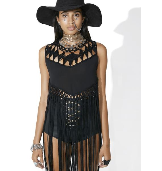 Wonderland Fringe Top