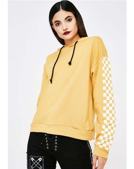 Sunny Push To Start Checkered Hoodie