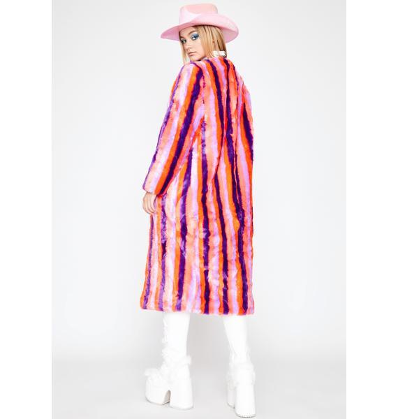 Sweet Like Sugar Faux Fur Coat