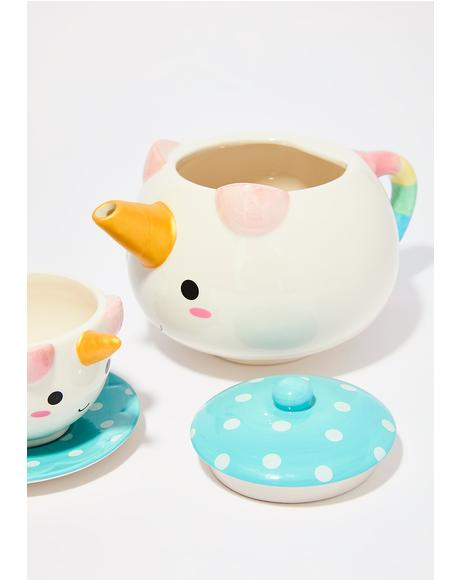 Unicorn Teapot Set