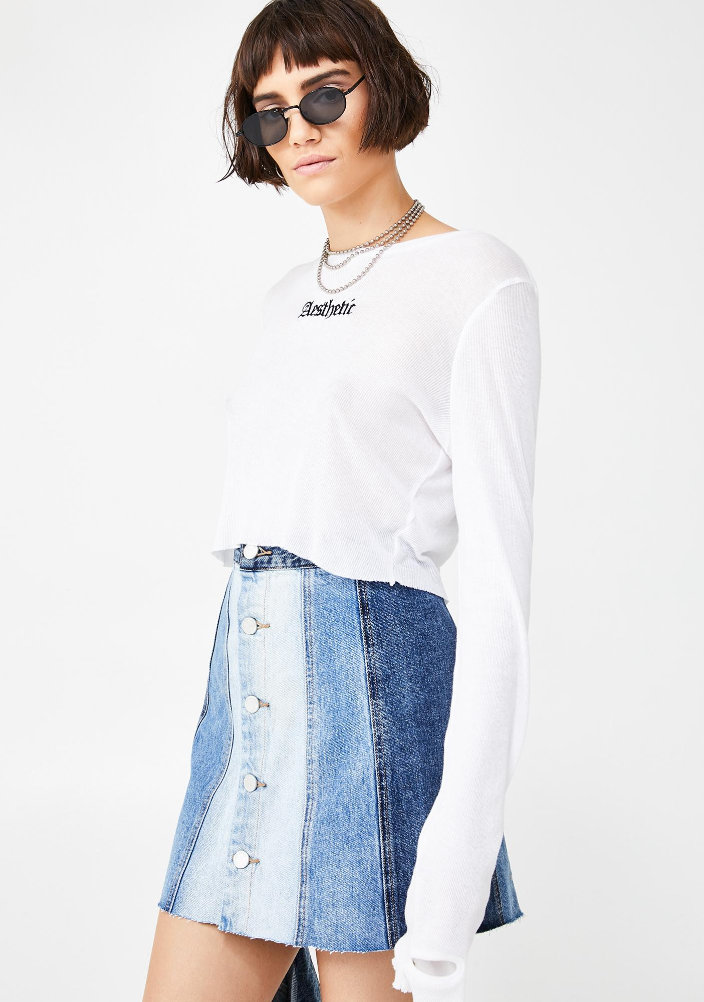 Blank NYC All Or Nothing Denim Skirt