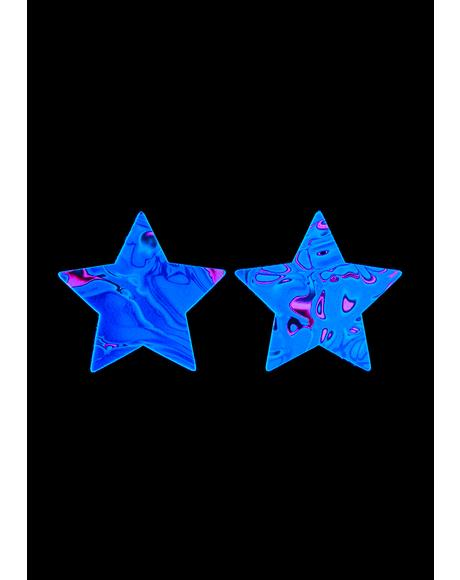 Starry Nights UV Reactive Pasties