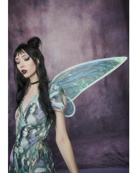 Eye Of The Deceiver Iridescent Fairy Wings