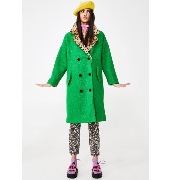 Lazy Oaf Green Dreams Teddy Coat