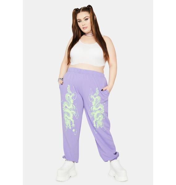 NEW GIRL ORDER Curve Dragon Jogger Sweatpants
