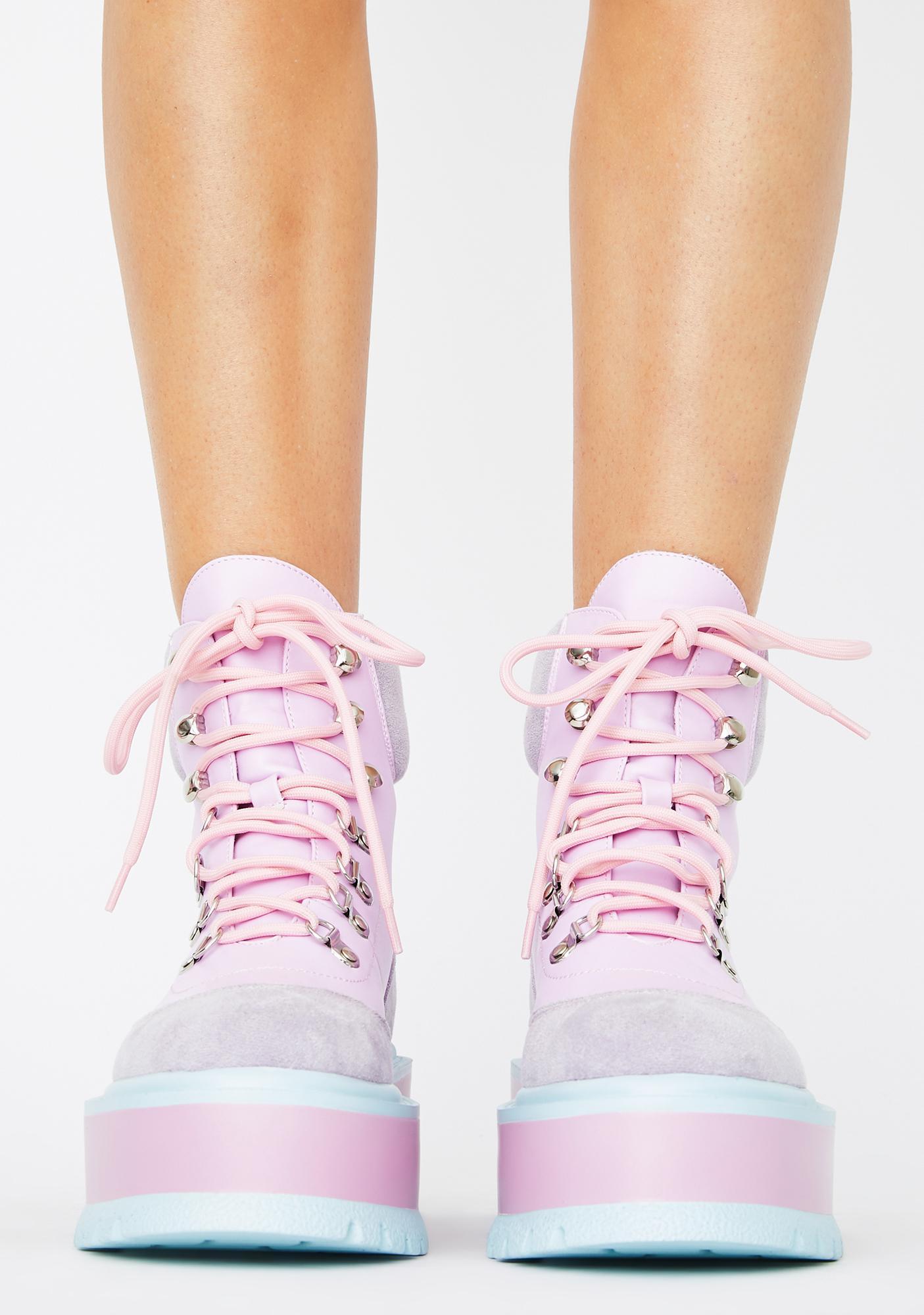 Koi Footwear Purple Hydra Matrix Platform Boots