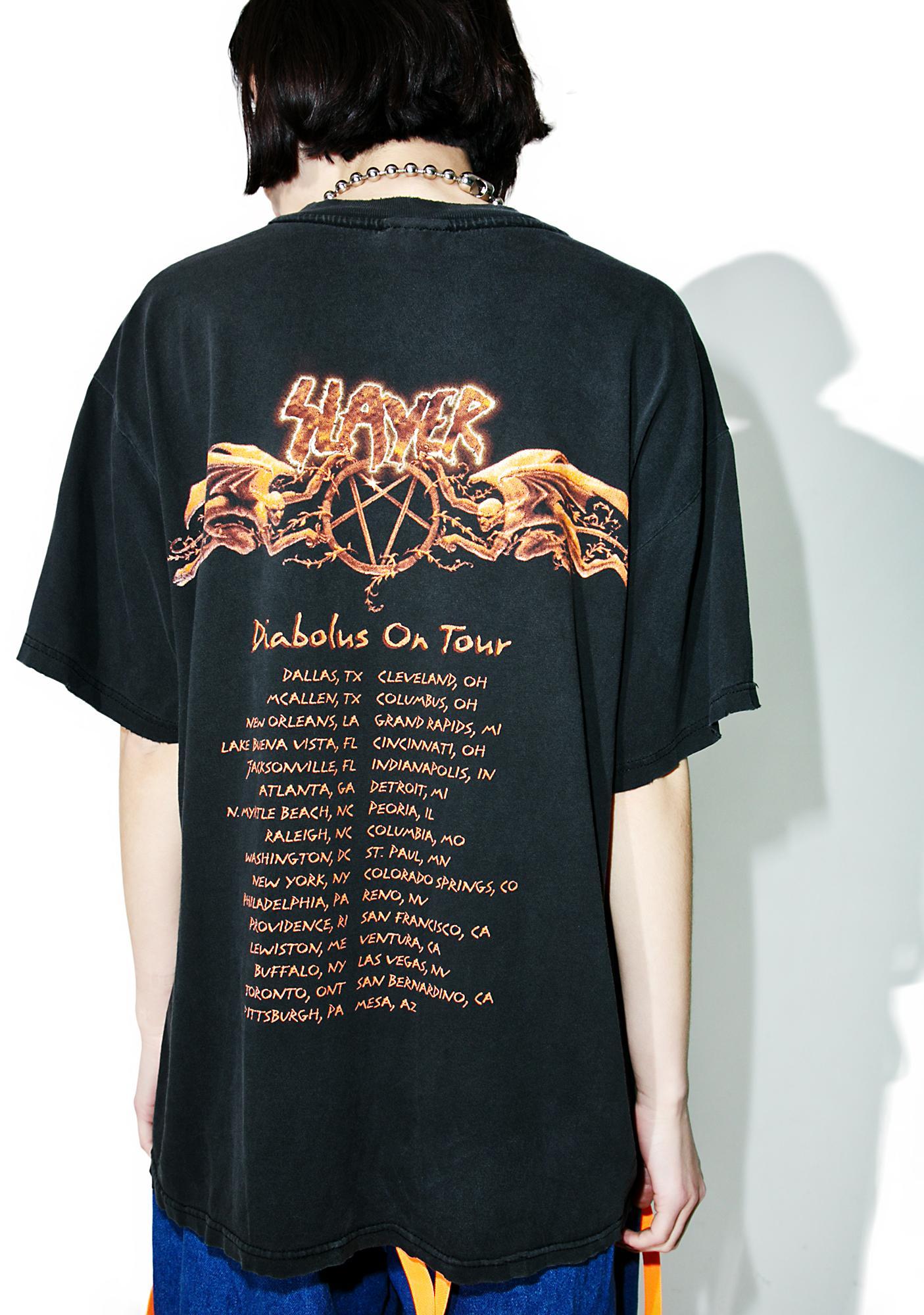 Vintage Slayer '98 Diabolus On Tour Tee