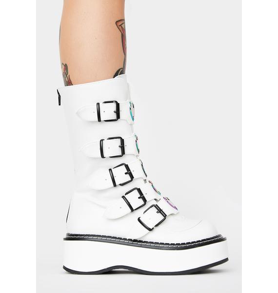 Demonia Pure Heartbreaker Buckle Boots