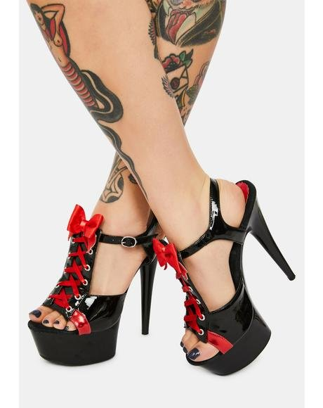 Tainted Love Corset Stiletto Heels
