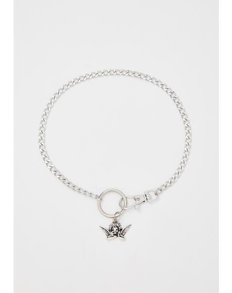 Angel Face Cherub Necklace