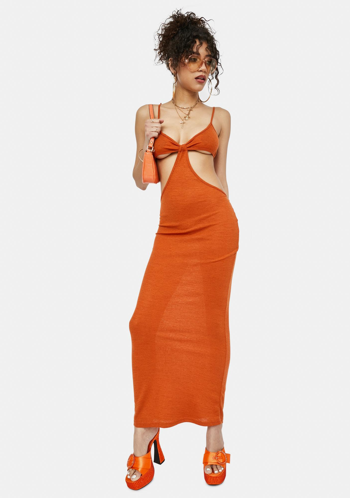 Amber Check My Style Cut Out Maxi Dress