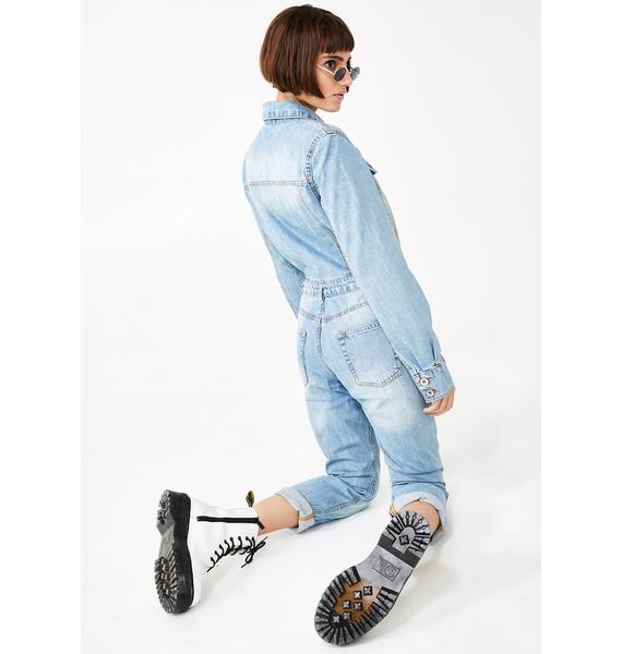 Kiki Riki Night Is Young Denim Jumpsuit