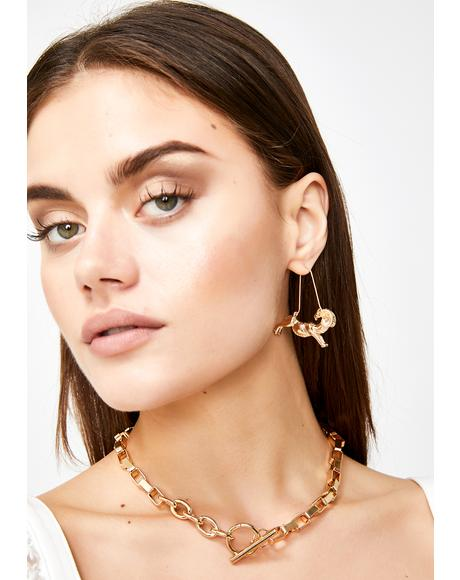 Constant Capricorn Drop Earrings